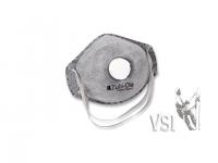 A) Mascarillas Zubiola N95 NIOSH APPROVAL - Con válvula. Caja x 10 und