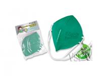 J) Mascarillas Zubiola para polvo Termosellada, desechable.Bolsa x 5 unidades. Color Verde.