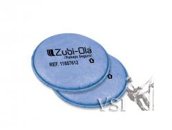 2 filtros para partículas NIOSH P100. Repuestos para Respirador Zubiola. 11887612