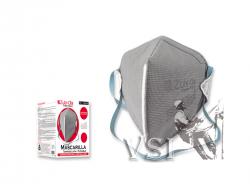 Mascarilla Zubiola para polvo termosellada desechable, plegada. Caja dispensadora x 20 unidades.