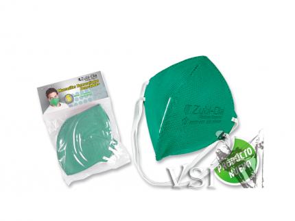 Mascarillas Zubiola para polvo Termosellada, desechable.Bolsa x 5 unidades. Color Verde. 11909100